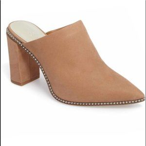 1. State Relle studded suede mules sz 12